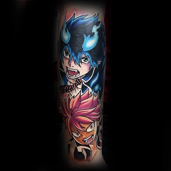 Forearm Sleeve Anime Guys Tattoos