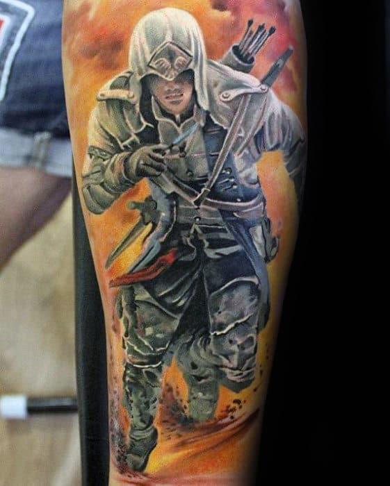 60 Assassins Creed Tattoo Designs For Men