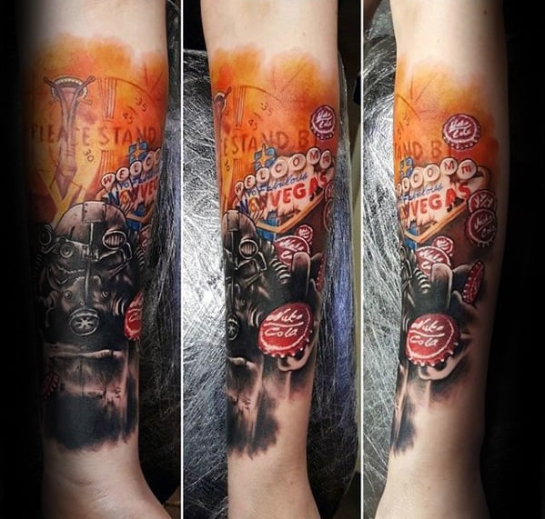 Forearm Sleeve Fallout Male Tattoos