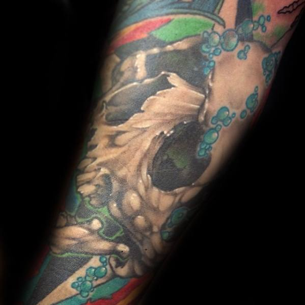 Forearm Sleeve Guys Bubble Tattoos