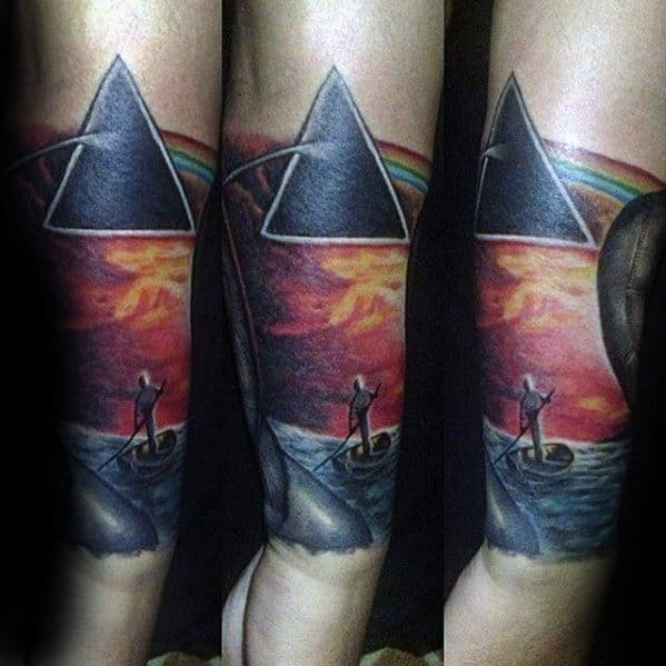 Forearm Sleeve Guys Pink Floyd Tattoo