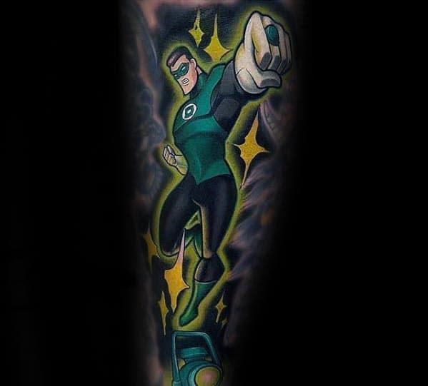 Forearm Sleeve Guys Superhero Dc Comics Green Lantern Tattoo Designs