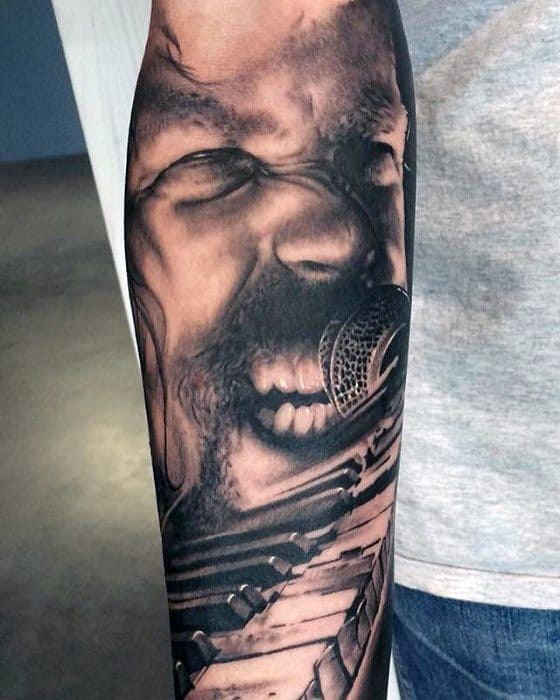 Forearm Sleeve Guys Tattoo Ideas Metallica Designs
