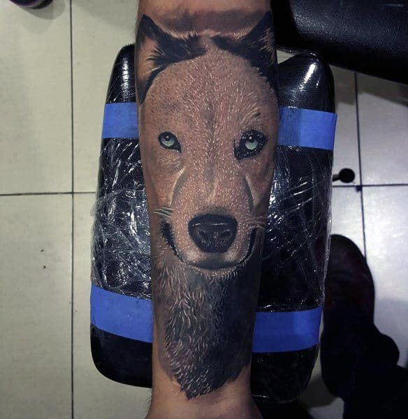Forearm Sleeve Husky Tattoos For Men