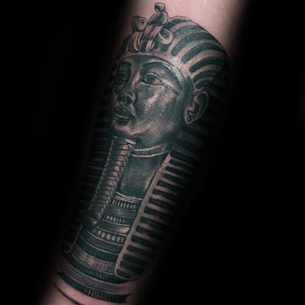 Forearm Sleeve King Tut Tattoo On Gentleman