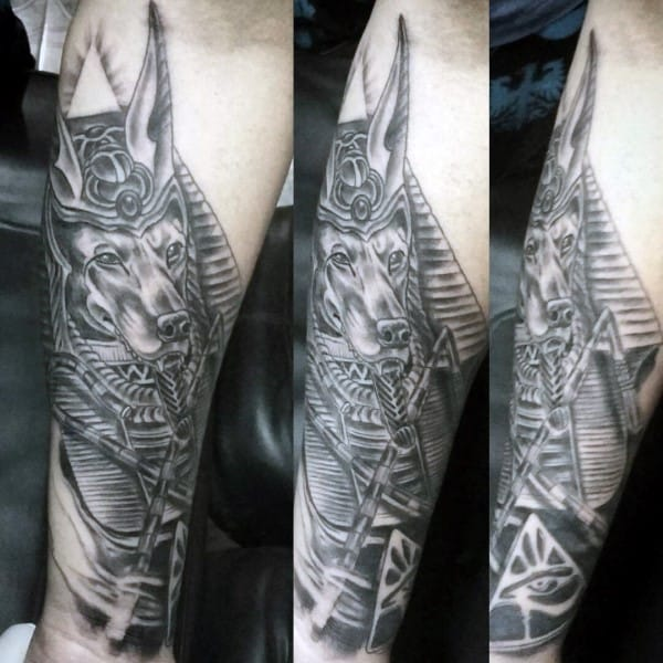 Forearm Sleeve Male Anubis Tattoos