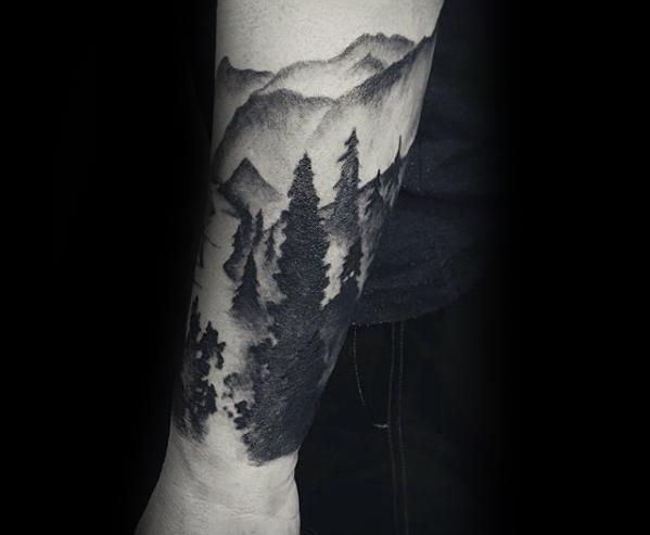 Forearm Sleeve Male Cool River Tattoo Ideas