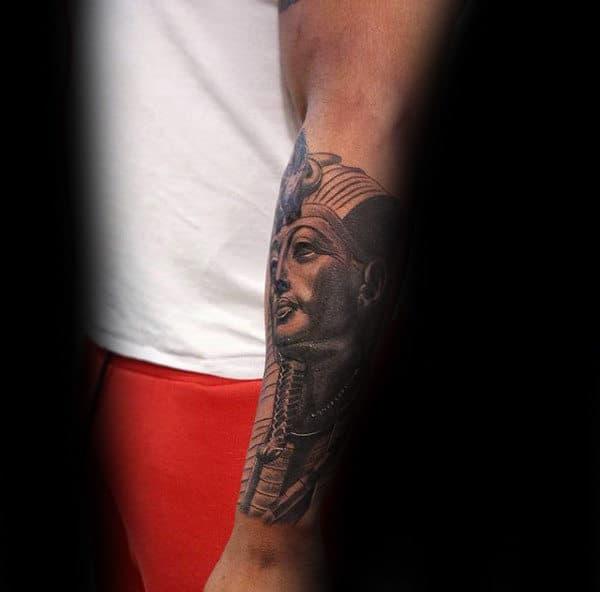Forearm Sleeve Male Tattoo Designs Of King Tut