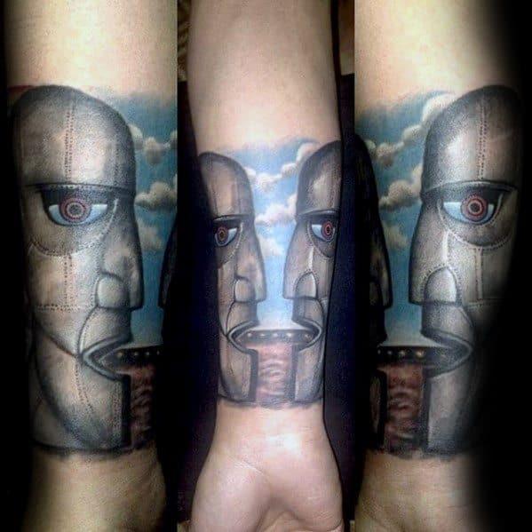 Forearm Sleeve Mens Cool Pink Floyd Tattoo Design Inspiration