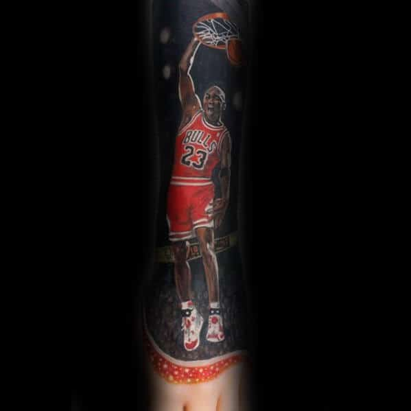 Forearm Sleeve Mens Dunk Chicago Bulls Tattoo