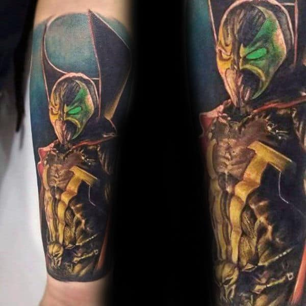 Forearm Sleeve Spawn Tattoos For Males