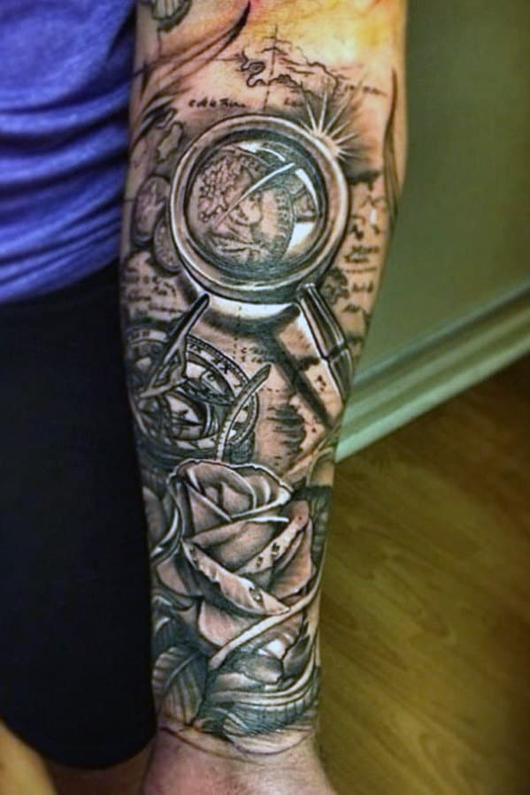 Top 75 best forearm tattoos for men cool ideas and designs for Forearm tattoo sleeves