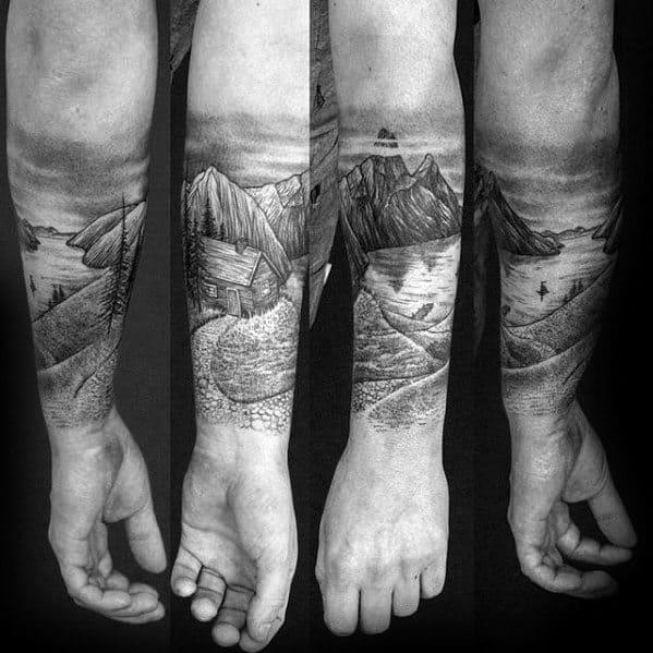 Forearm Sleeve Uys Cabin Tattoo