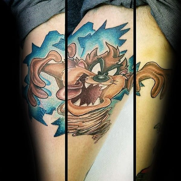 Forearm Tasmanian Devil Tattoo Ideas For Males