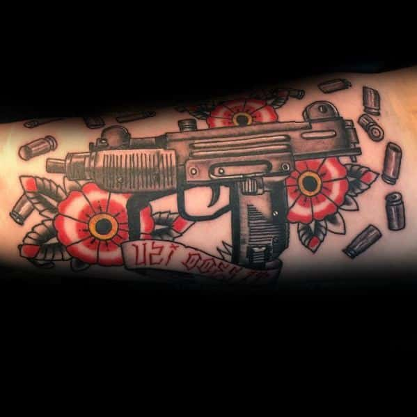 Forearm Tattoo Ideas Uzi