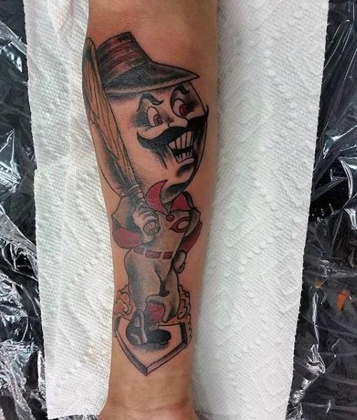 Forearm Tattoo Men's Baseball Cincinnati Reds