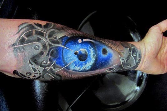 Eye Forearm Tattoos Ideas For Men