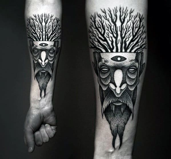 Abstract Forearm Tattoos