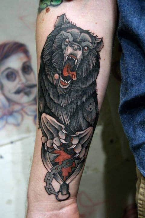 Forearm Wolf Tattoo Designs