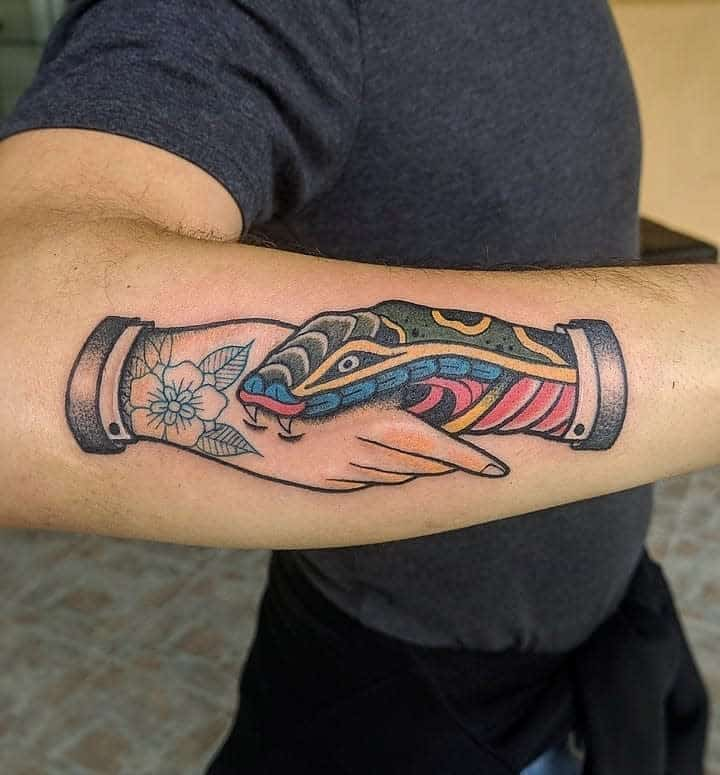 forearm trust no one tattoos margheritti.evita