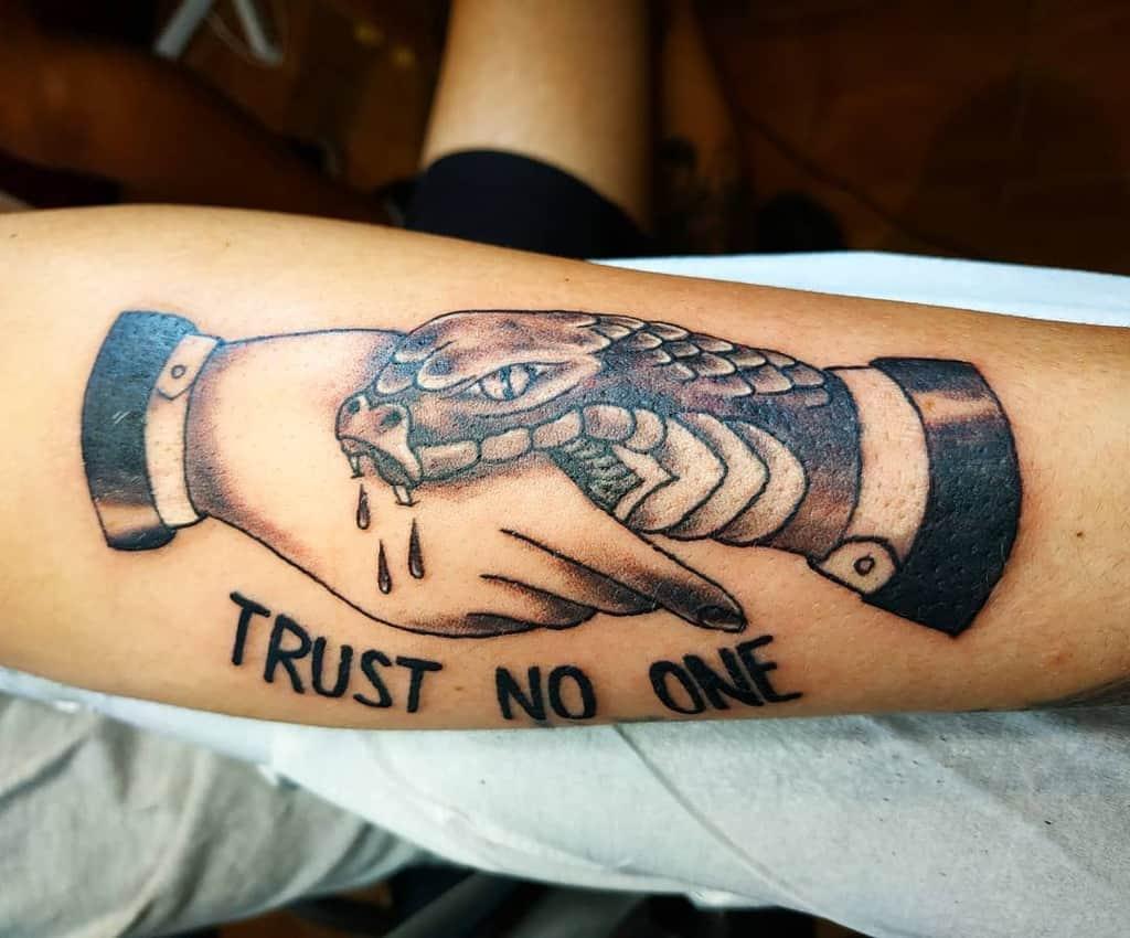forearm trust no one tattoos tattoo_boyan_nikolov