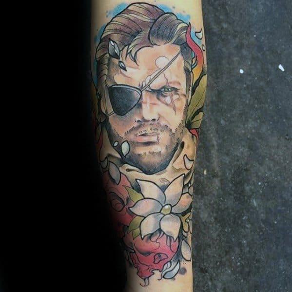Forearm Unique Mens Metal Gear Tattoos