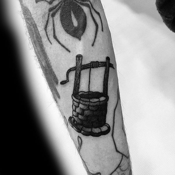Forearm Water Well Filler Tattoo Ideas On Guys