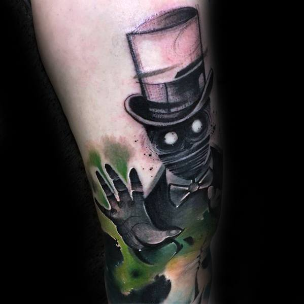 Forearm Watercolor Guys Magician Tattoo Deisgns