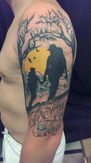 Top 50 best father son tattoos for men manly design ideas for Father son memorial tattoos