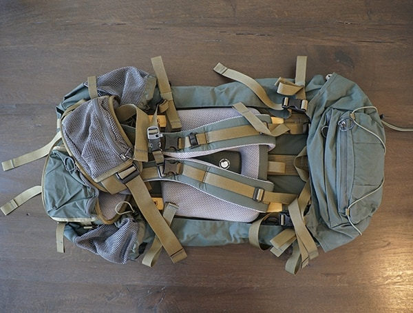 Forest Green Fjallraven Kajka 75 Liter Backpack Back