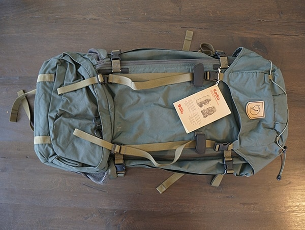 Forest Green Fjallraven Kajka 75 Liter Backpack Front