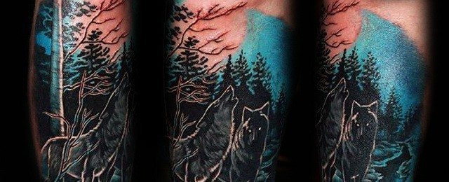 Forest Tattoo Designs For Men