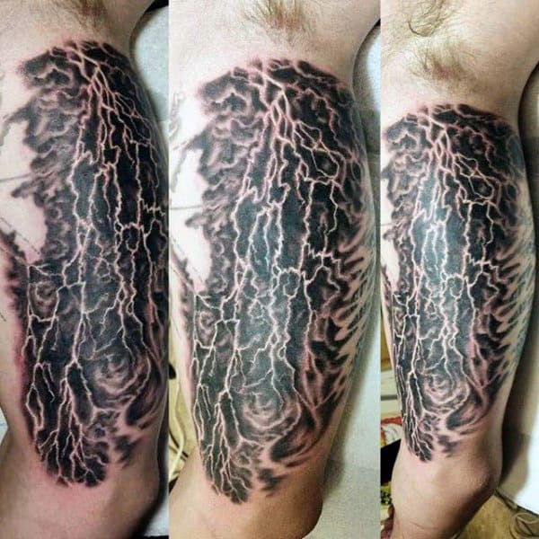 Forked Lightning Tattoos For Men On Arm