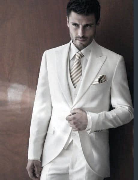 Formal Professional All White Outfits For Males