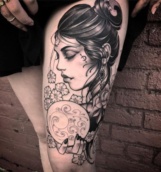 Fortune Teller Gypsy Tattoo