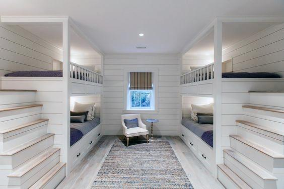 Four Bunk Beds With Steps