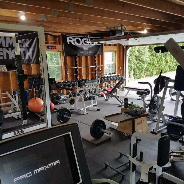 Version of the garage gym u nick momrik s crossfit training