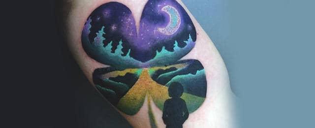 Four Leaf Clover Tattoo Designs For Men
