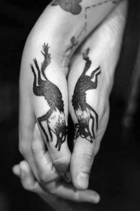 Fox Male Side Hand Tattoo Ideas