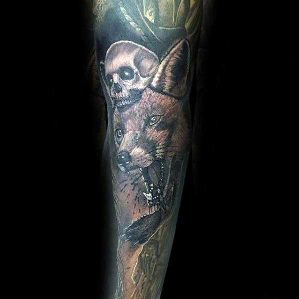 Fox Skull Guys Tattoo Designs
