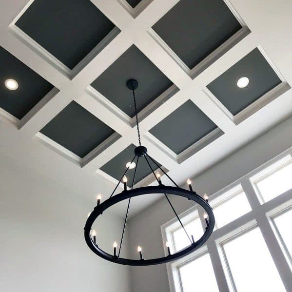Foyer Entrance Coffered Ceilings Interior Ideas