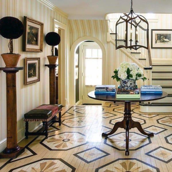 Foyer Hardwood Exceptional Painted Floor Ideas