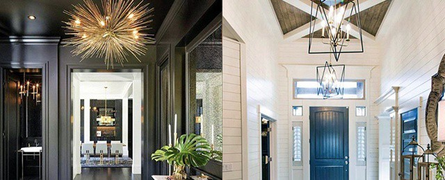 Top 40 Best Foyer Lighting Ideas – Illuminated Entrance Designs
