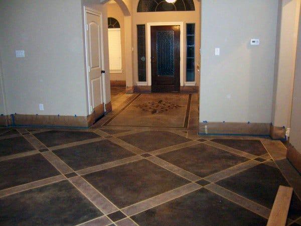 Foyer Pattern Concrete Floor Ideas