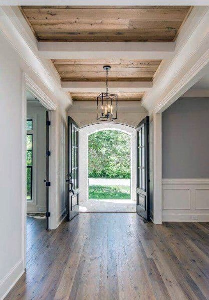 Foyer Wood Ceiling Interior Design Ideas