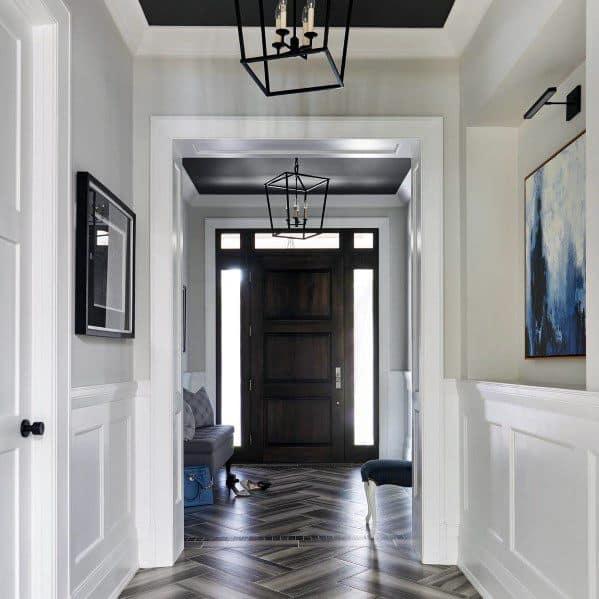 Foyer Wood Unique Trey Ceilings