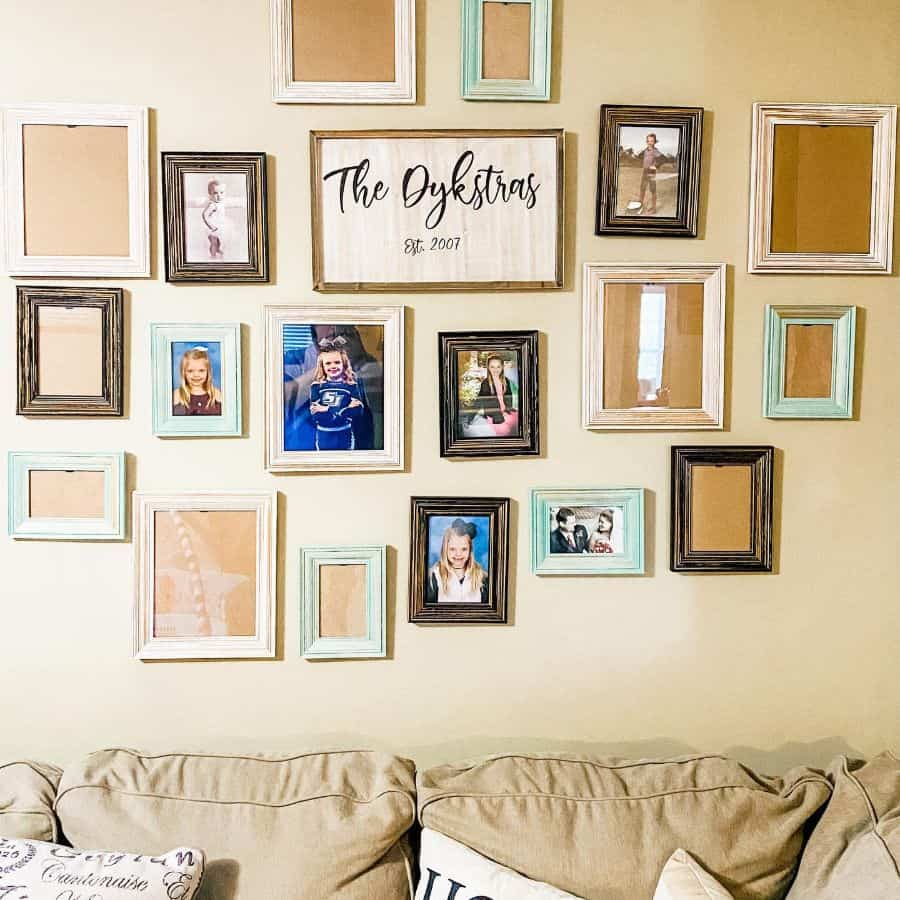 Frame And Hanger Picture Wall Ideas Brookelynzee