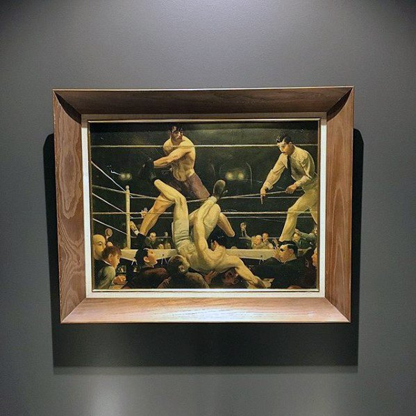 Framed Boxing Photo Bachelor Pad Decor