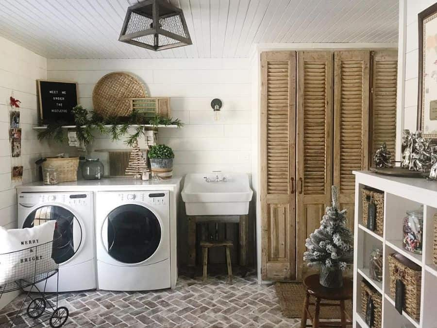 free standing laundry room sink ideas lovehomemadehome