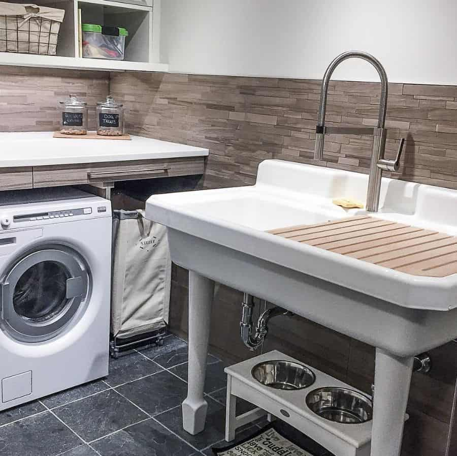 free standing laundry room sink ideas rochellelynnedesign
